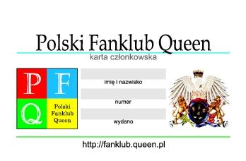 Karta członkowska Polskiego Fanklubu Queen