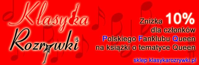 Sklep Klasyka Rozrywki zniżka dla członków Polskiego Fanklubu Queen