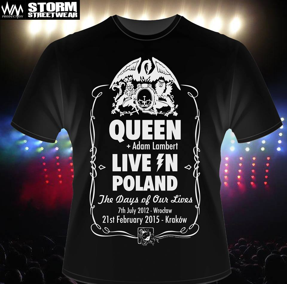 Projekt koszulki koncertowej