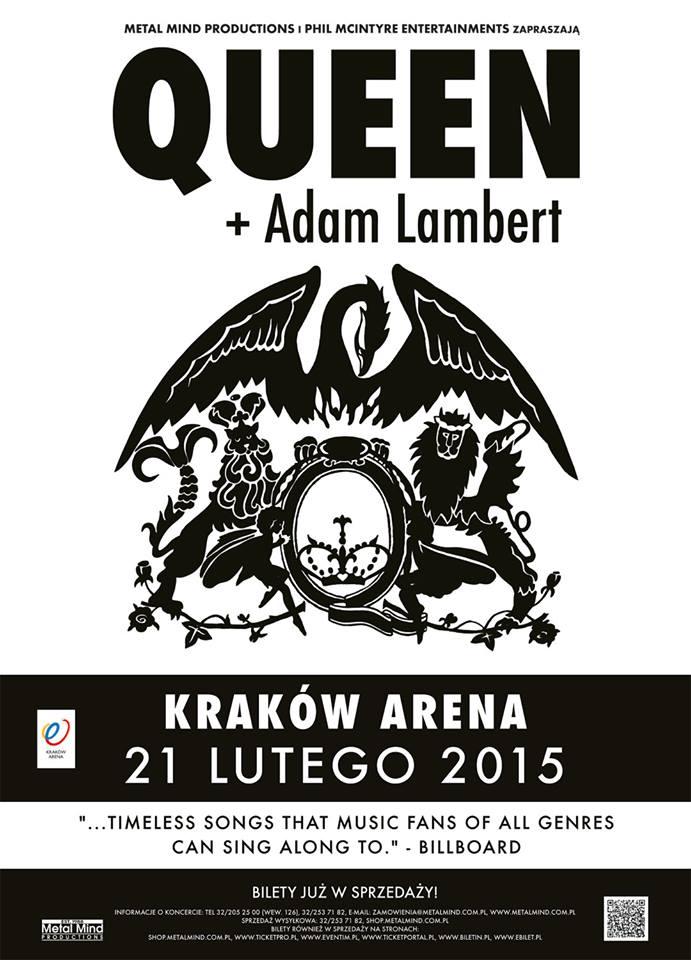 Queen + Adam Lambert Kraków Arena